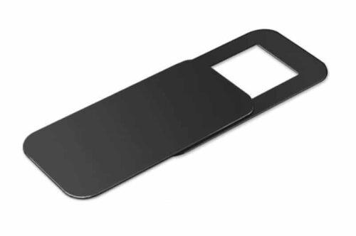 bedrukte webcam cover vierkant zwart